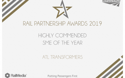 ATL awarded highly commended SME of The Year at the Rail Partnership Awards 2019